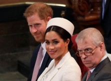 Prince Harry, Meghan Markle and Prince Andrew