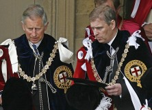 Prince Charles and Priince Andrew