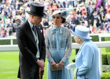 Prince William, Kate Middleton and Queen Elizabeth
