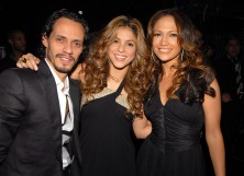 Marc Anthony, Shakira and Jennifer Lopez