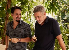 George Clooney and Lin-Manuel Miranda in Puerto Rico with Nespresso