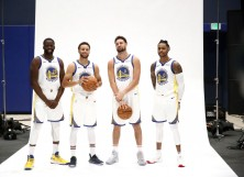Warriors Draymond Green, Stephen Curry, Klay Thompson D'Angelo Russell
