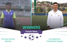 Future Stars winners, Chinasa Ukandu from Nigeria and Luis Castaneda from Colombia