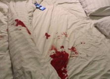 Bed Covered In Blood