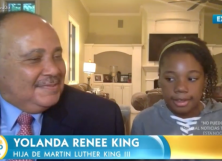 Martin Luther King III and his daughter, 12-year-old Yolanda