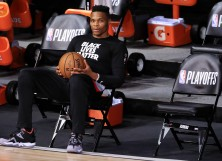 Russell Westbrook #0 of the Houston Rockets