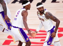 Kentavious Caldwell-Pope #1 of the Los Angeles Lakers
