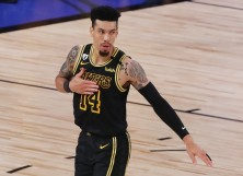 Danny Green #14 of the Los Angeles Lakers
