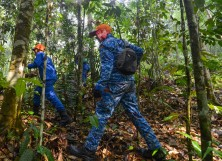 Members of a rescue team continue to search for the missing 15-year-old Franco-Irish teenager Nora Quoirin in Seremban on August 11, 2019.