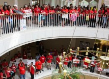 Teachers from across the state of North Carolina march and protest