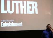 Actor Idris Elba speaks on stage after BBC America's 'Luther' screening at The Django at the Roxy Hotel