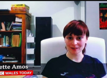 A dildo was spotted at Yvette Amos's place during the live show.