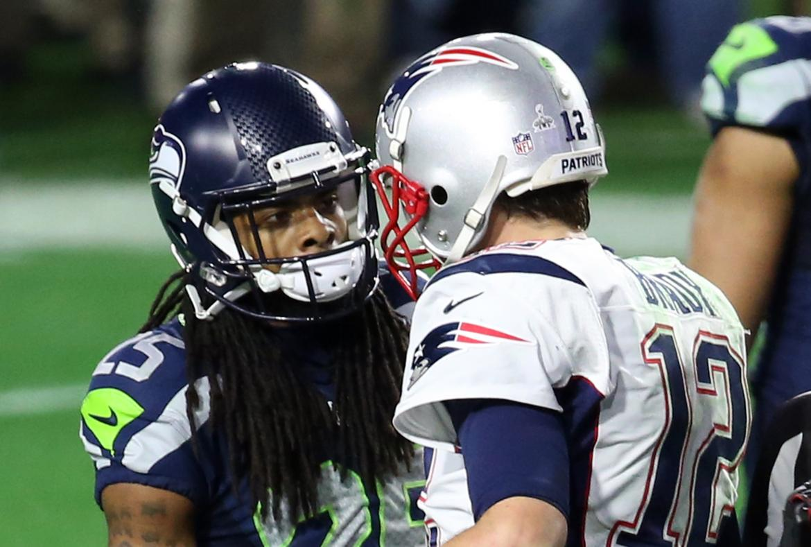 Richard Sherman and Tom Brady
