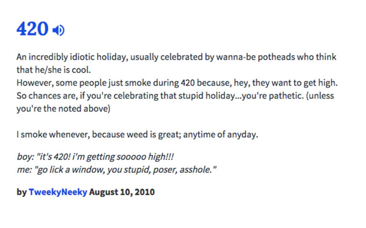 420 Meaning: 17 Ways Urban Dictionary Defines Weed Day - photo#46