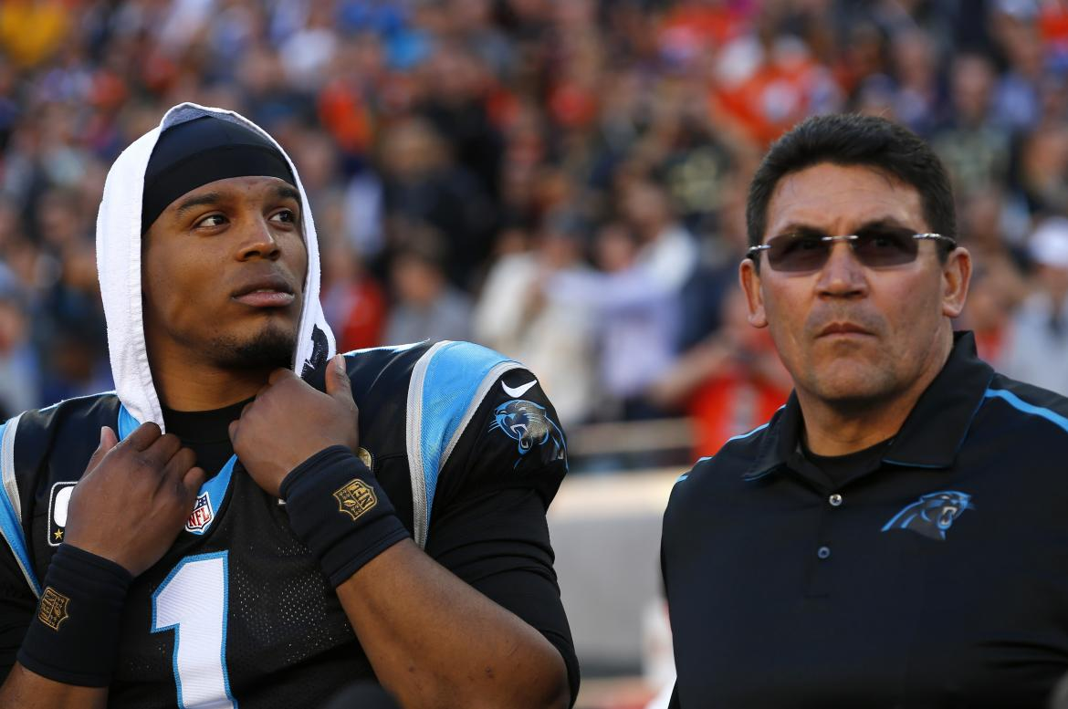 Cam Newton and Latino Head Coach Ron Rivera Savor the Moment Pregame