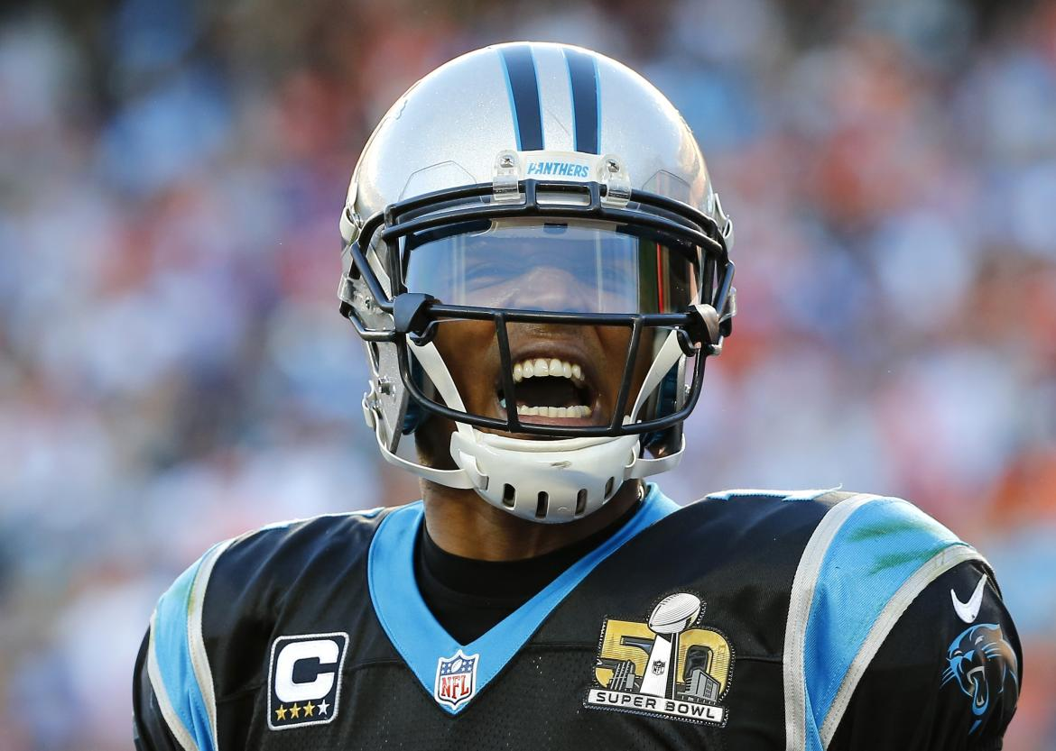 Cam Newton Smiles After Panthers Score