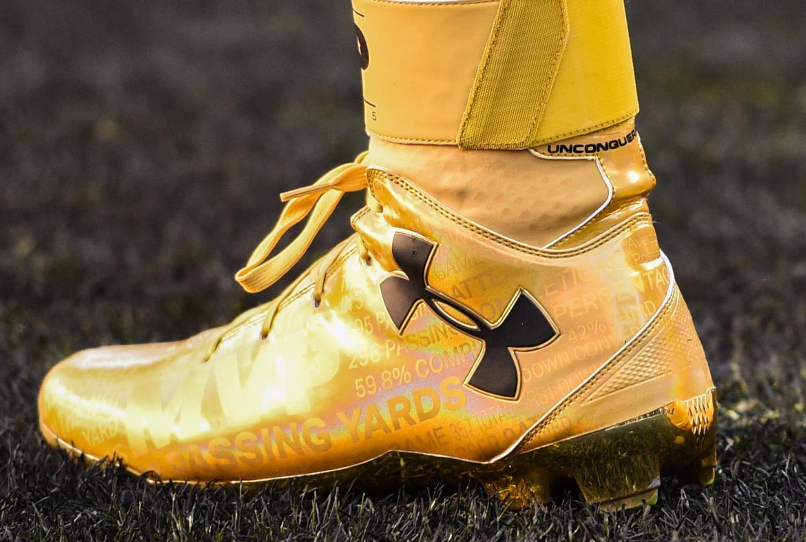 Cam Newton's Golden MVP Cleats