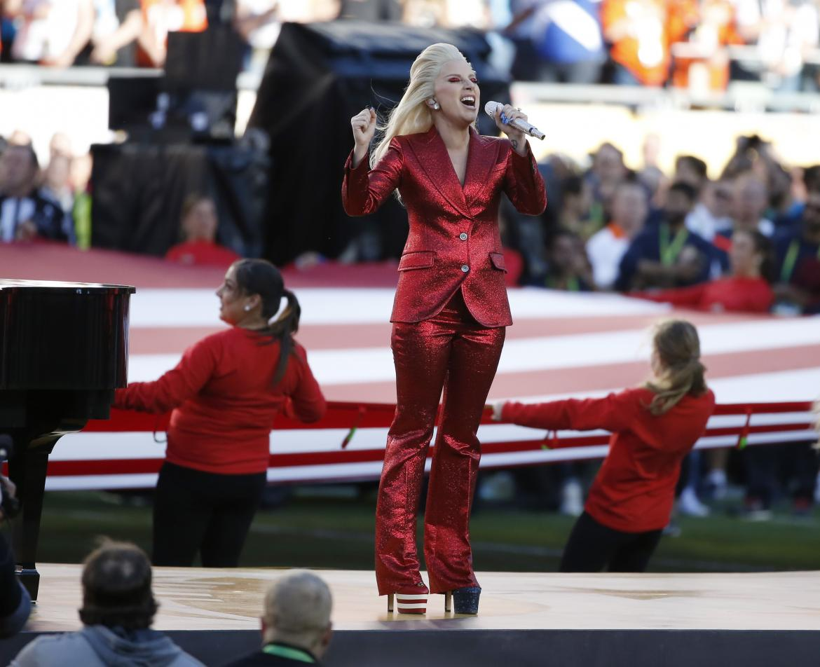 Lady Gaga Crushes the National Anthem