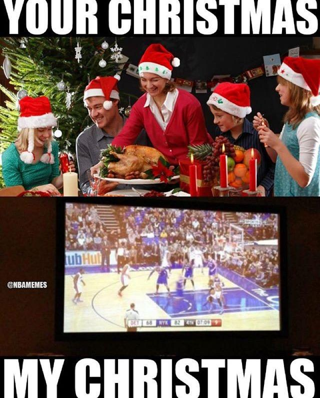 Dinner on christmas day we watched the full slate of nba games memes