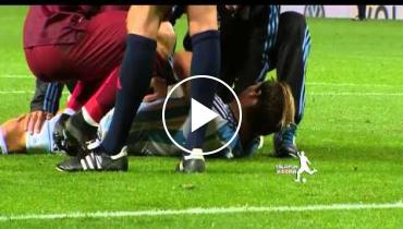 Ronaldo Judo Kicks Opposing Player In The Stomach!