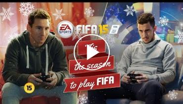 Check Out This Christmas Commercial Featuring Lionel Messi And Eden Hazard