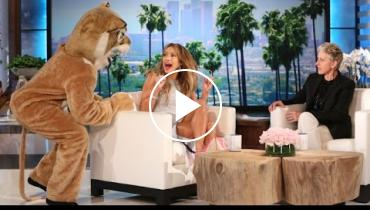 Jennifer Lopez Gets Bleeped Out On 'Ellen' After Getting Scared!