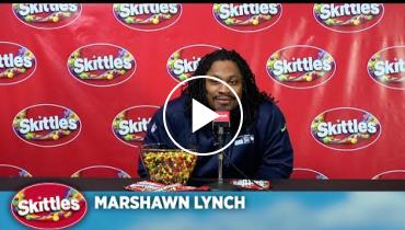 Marshawn Lynch Finally Talks To The Media...For Skittles!