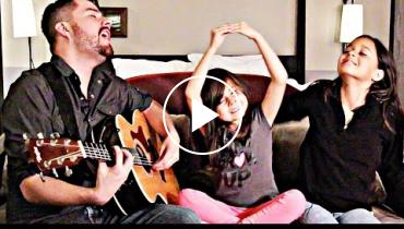 Single Dad Jorge Narvaez Sings Cinderella Song With Daughters
