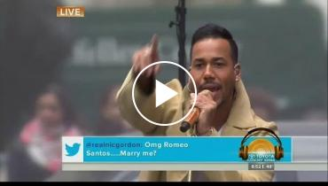 Watch Romeo Santos Turn Up The Heat In NYC On 'Today' Show!