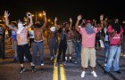 Ferguson Residents Protest Against Death Of Michael Brown