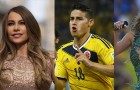 Sofía Vergara, James Rodriguez and Jennifer Lopez
